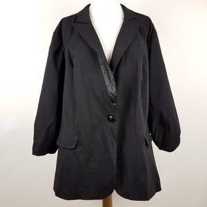 Torrid Blazer Jacket Stretch Ruched 3/4 Sleeve 3X